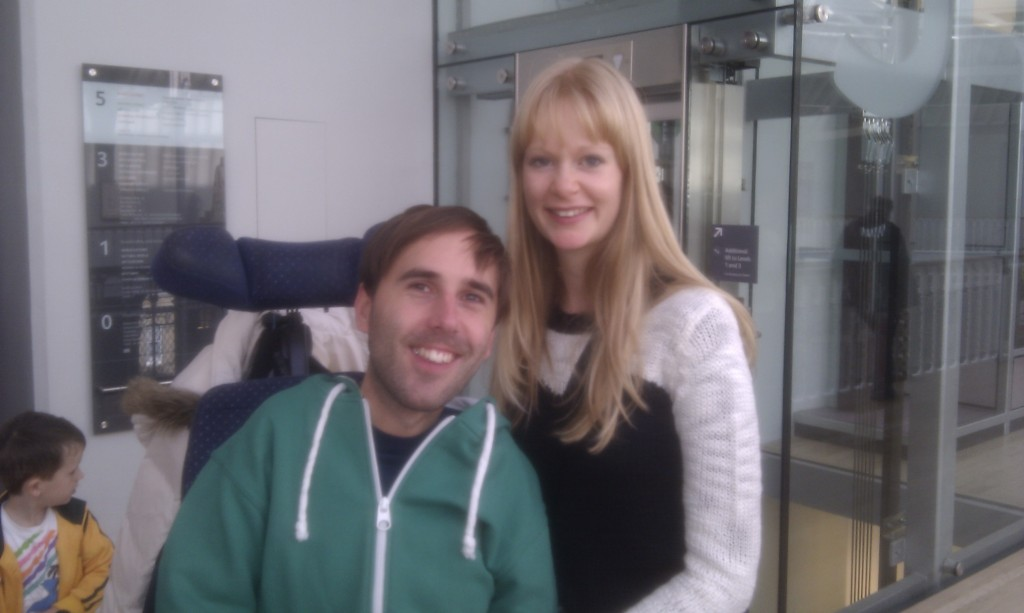 Claire and I at museum of Scotland