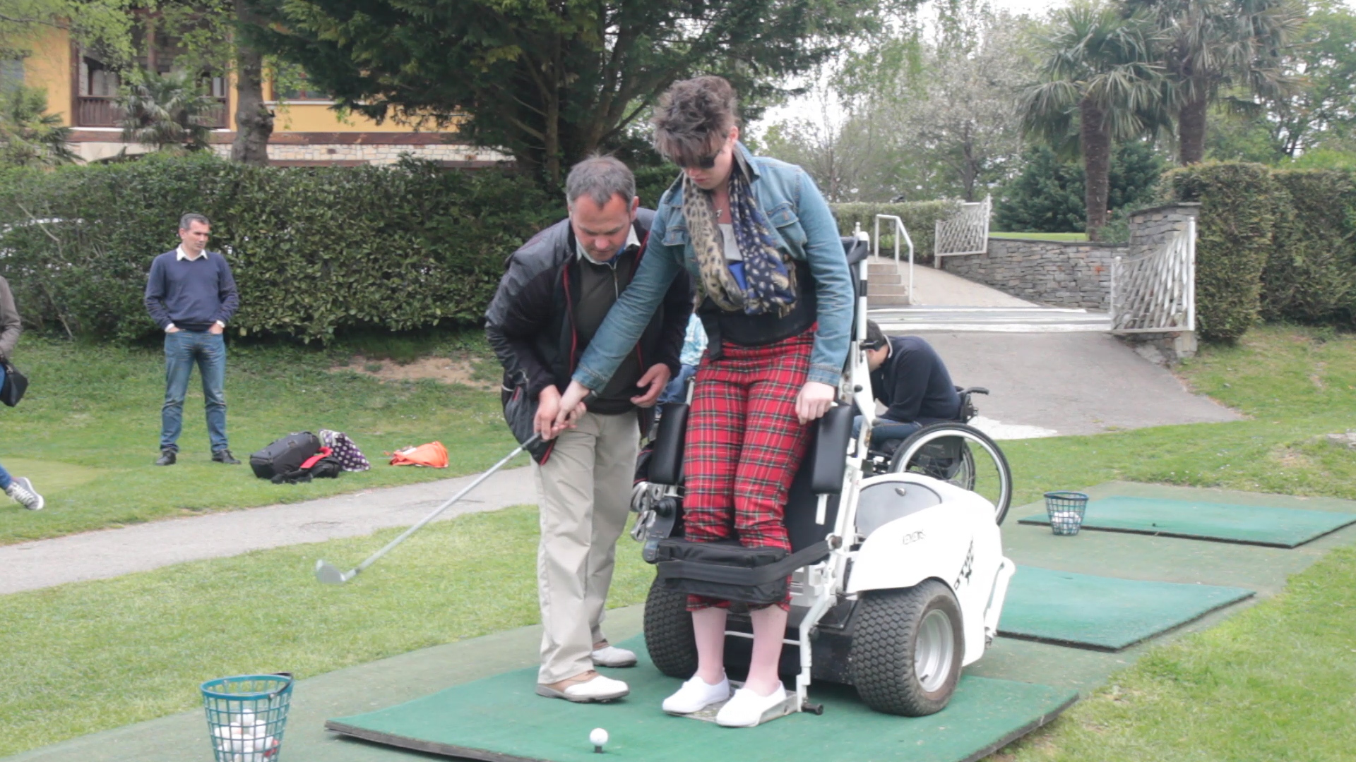 Here's Kathanna from Disabled Access Holidays demonstrating her skills!