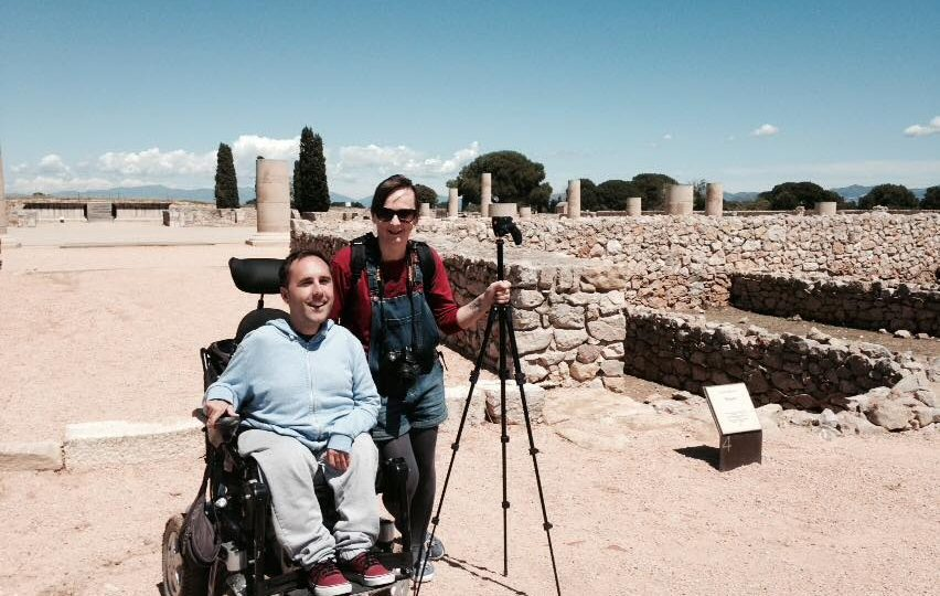 martyn and kasia in greek ruins